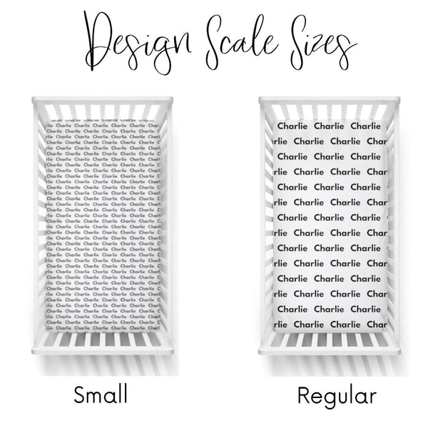 Personalized Name Crib Sheet-  NAME REPEAT - Dotboxed