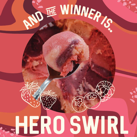hero swirl four all ice cream