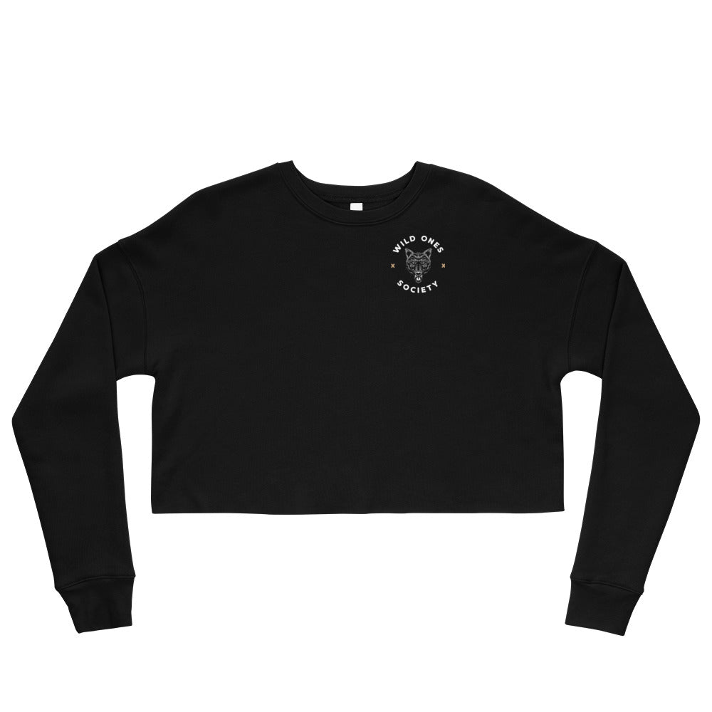 W.O.S. CROP SWEATSHIRT