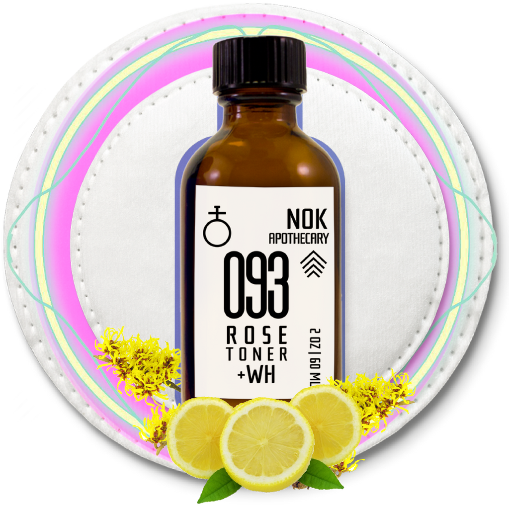 093 Lemon + Witch Hazel Toner | Oily Skin - The Nok Apothecary