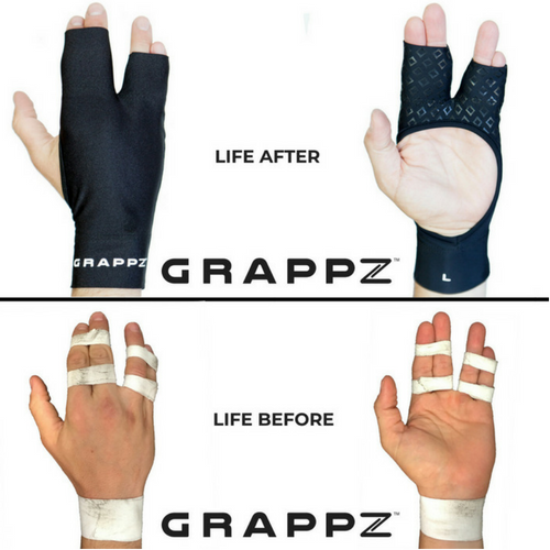 Finger support compression grappling gloves compared to buddy taping and BJJ tape or finger tape.