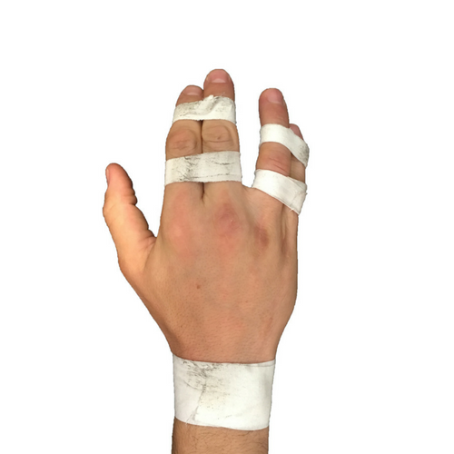 Finger tape and BJJ tape creates a finger splint or buddy tape for finger injuries.