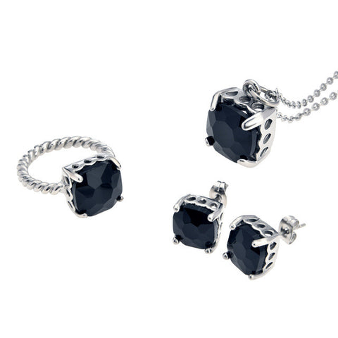 Black Topaz Jewelry Set