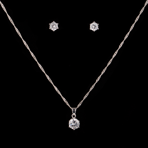 CZ Diamond Jewelry Set