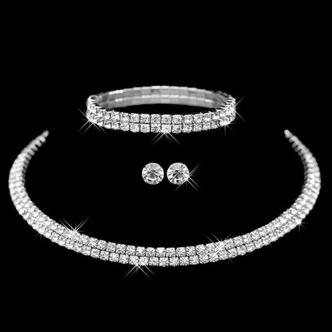 Diamond Choker with Bracelet