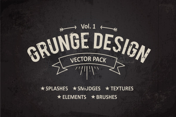 Grunge Design Elements #1 - Retro Mart