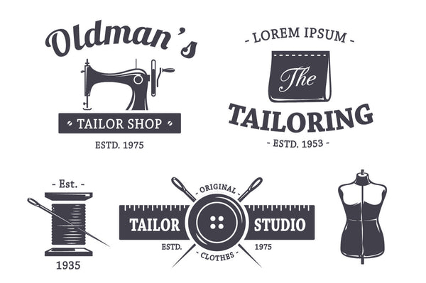Vintage Tailor Emblems - Retro Mart