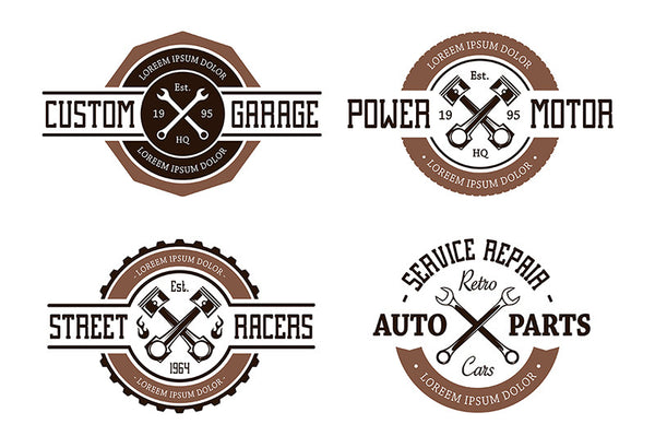 Vector Auto Emblems - Retro Mart