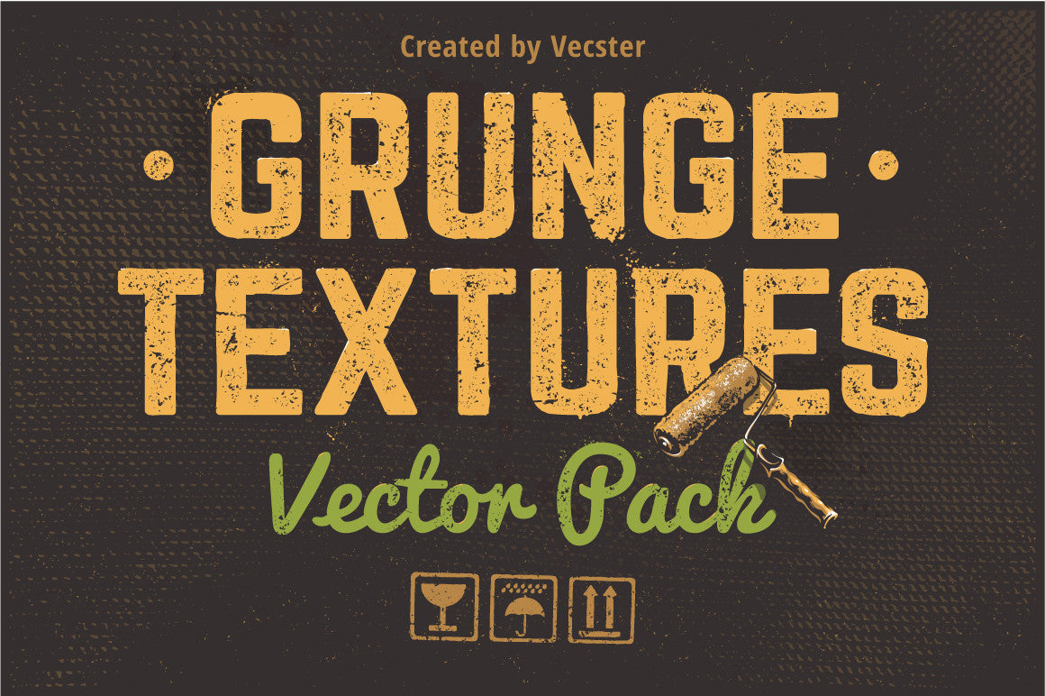Grunge Textures Vector Pack - Retro Mart
