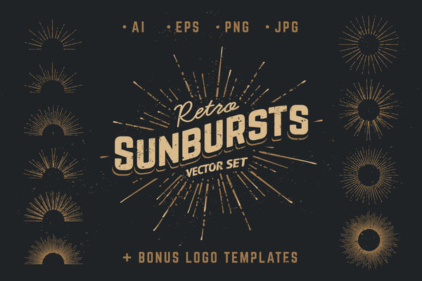Retro Sunbursts - Retro Mart