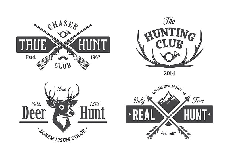 Vintage Hunting Emblems - Retro Mart