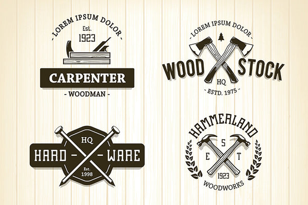 Vintage Carpentry Emblems - Retro Mart