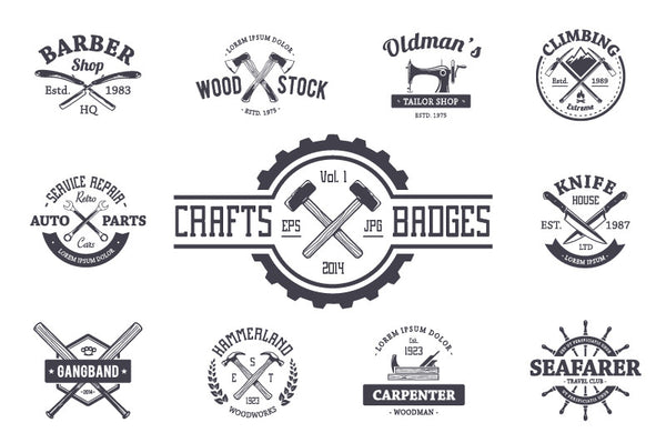 Crafts Emblems Set - Retro Mart