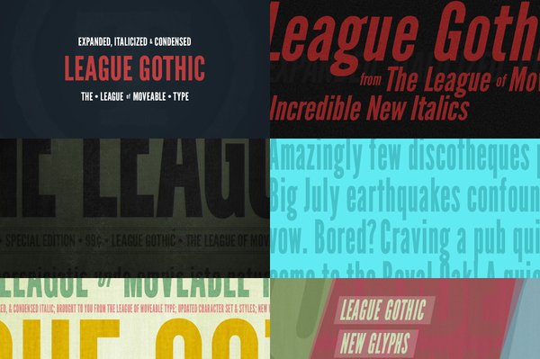 League Gothic - Retro Mart