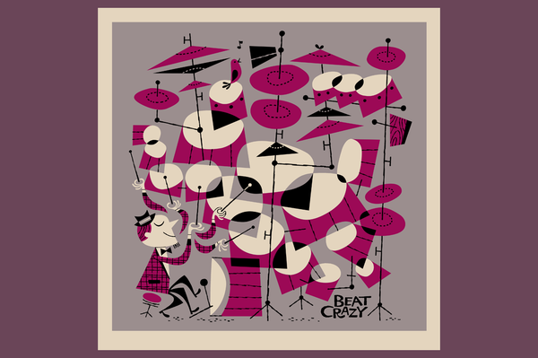 Beat Crazy Art Serigraph - Retro Mart