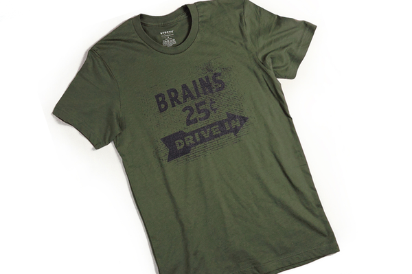 Brains Drive In T-Shirt - Retro Mart