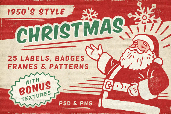 Retro Christmas Labels vol.1