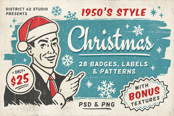 Retro Christmas Labels Vol 2