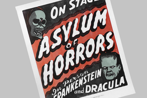 Asylum of Horrors Poster - Retro Mart
