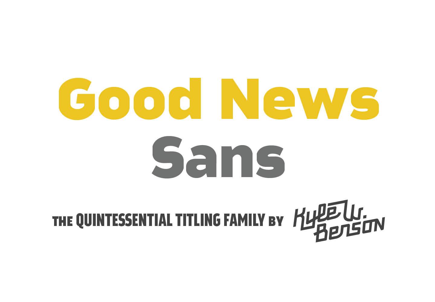 Good News Sans - Retro Mart