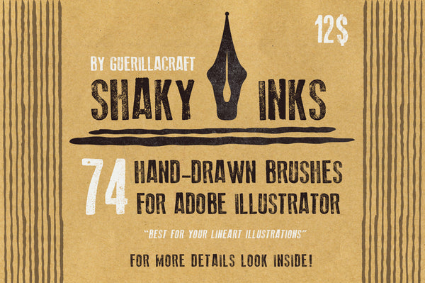 Shaky Inks Brushes For Illustrator - Retro Mart