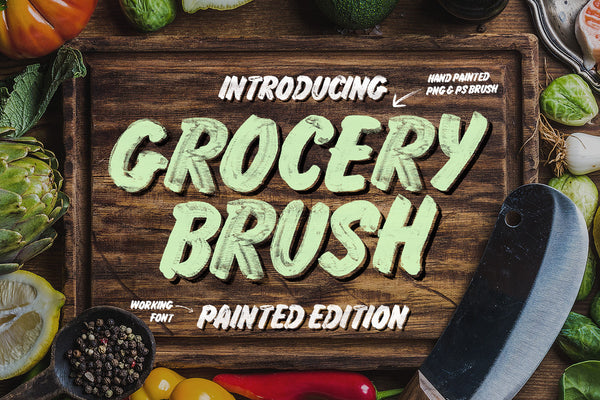 Grocery Brush & Hand - Retro Mart