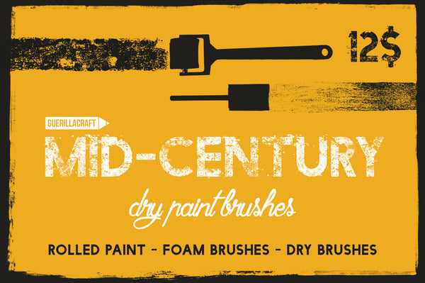 Mid-Century Dry Paint Brushes - Retro Mart