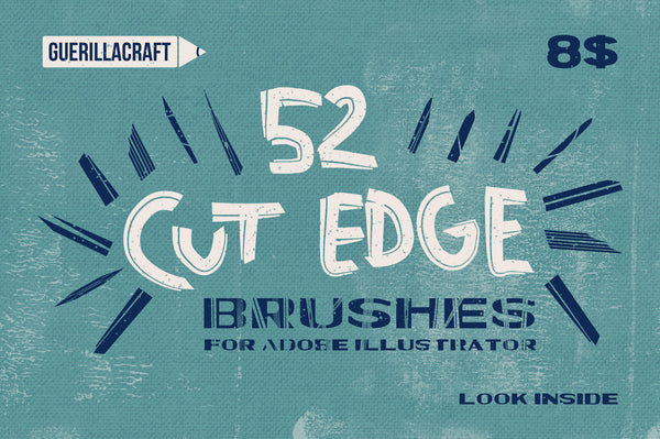 Cut Edge Brushes - Retro Mart