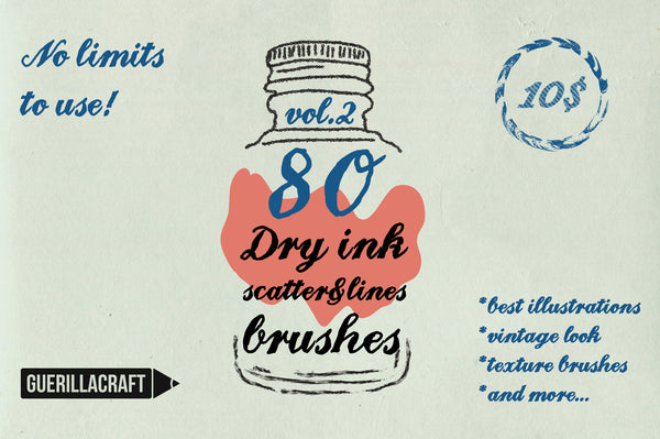 Dry Ink Brushes Vol. 2 - Retro Mart
