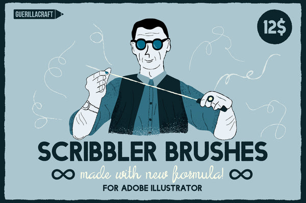 Scribbler Brushes for AI - Retro Mart