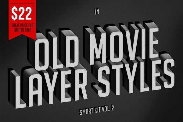 Old Movie Layer Styles Vol 2