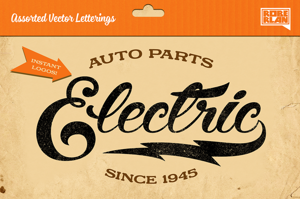 Assorted Vector Letterings - Retro Mart
