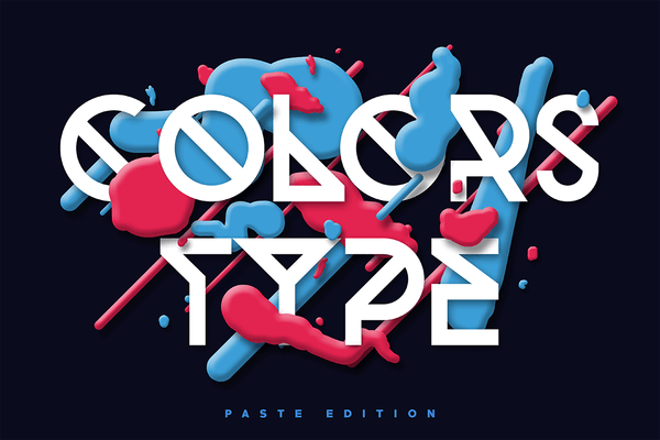 Colors Type - Paste Edition - Retro Mart