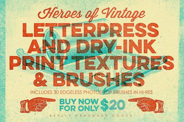 Letterpress & Dry-Ink Print Textures