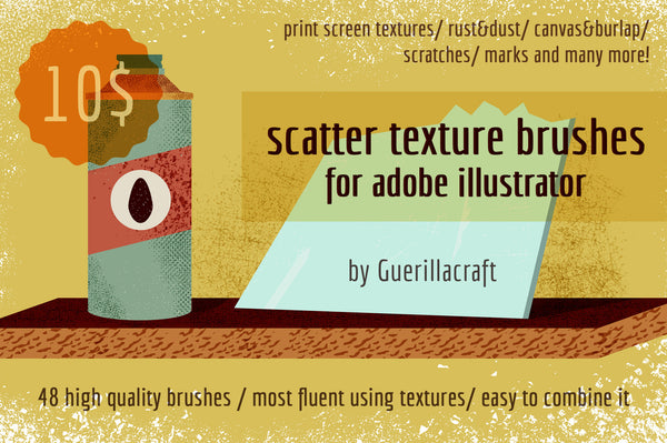Scatter Texture Brushes - Retro Mart
