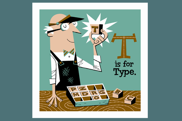 T is for Type Serigraph