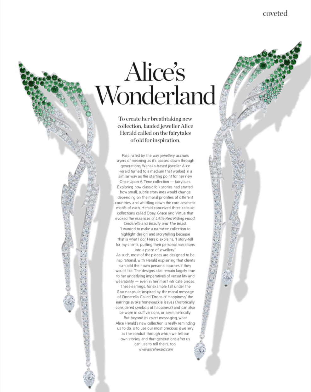 Denizen editorial Alice Herald Jewellery Designer