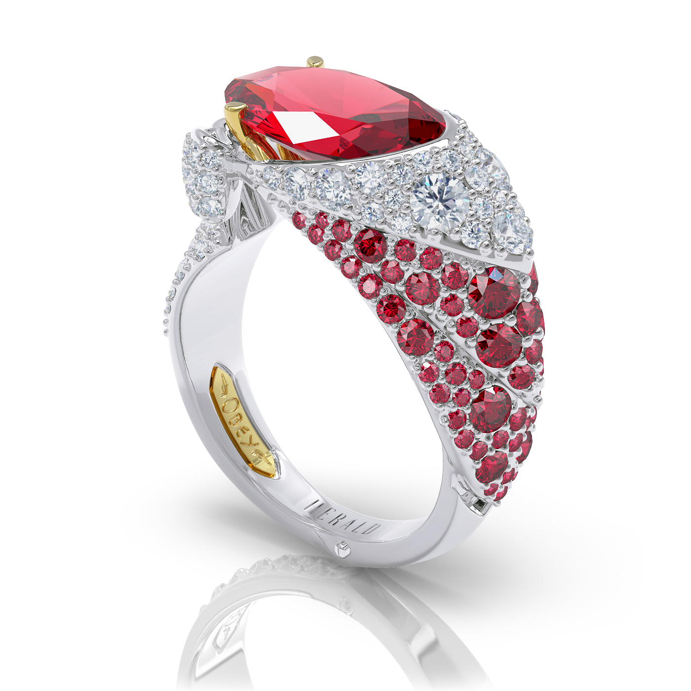 Ruby and Diamond Ring by Alice Herald Jewellery Designer