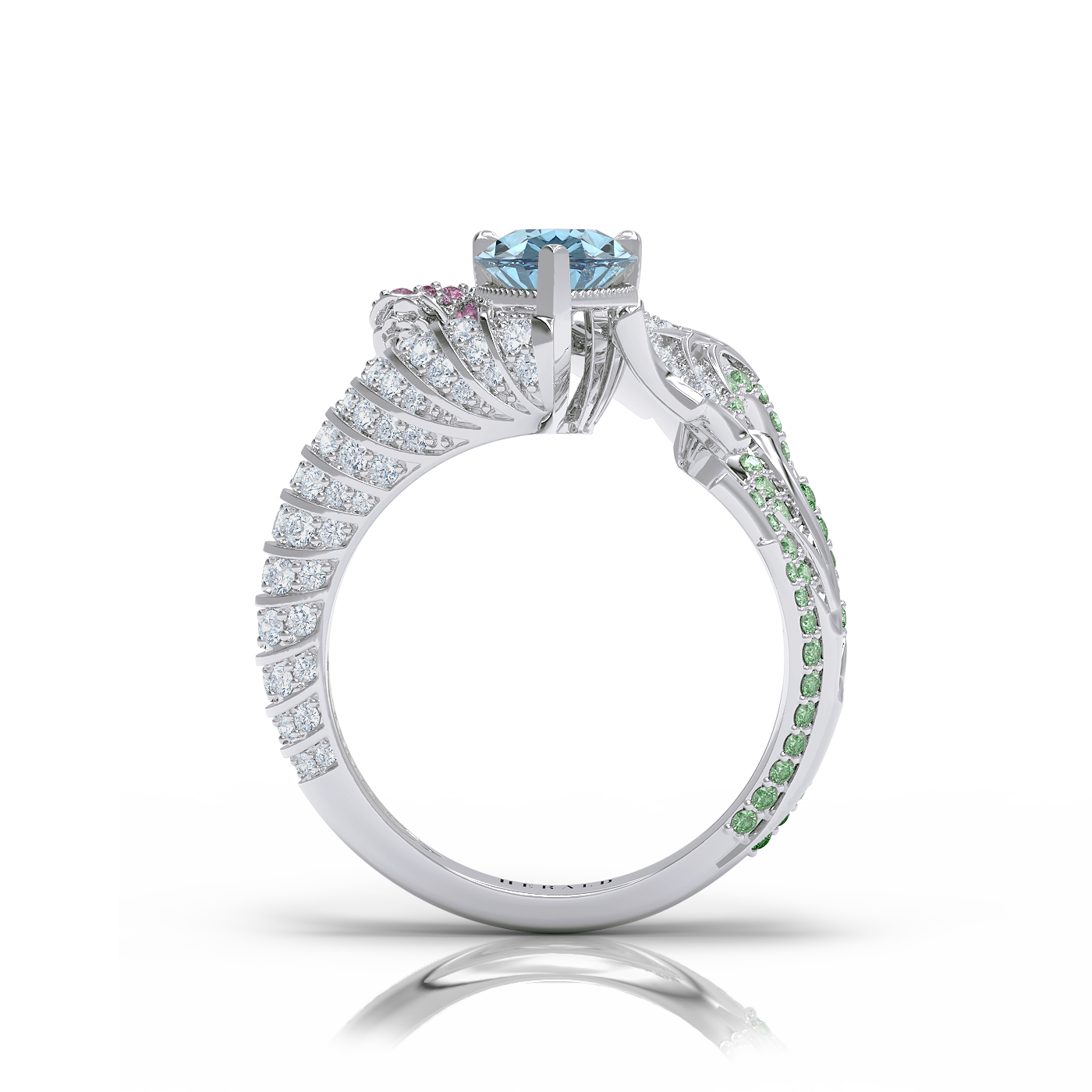 Grace Aquamarine diamond ring by Alice Herald