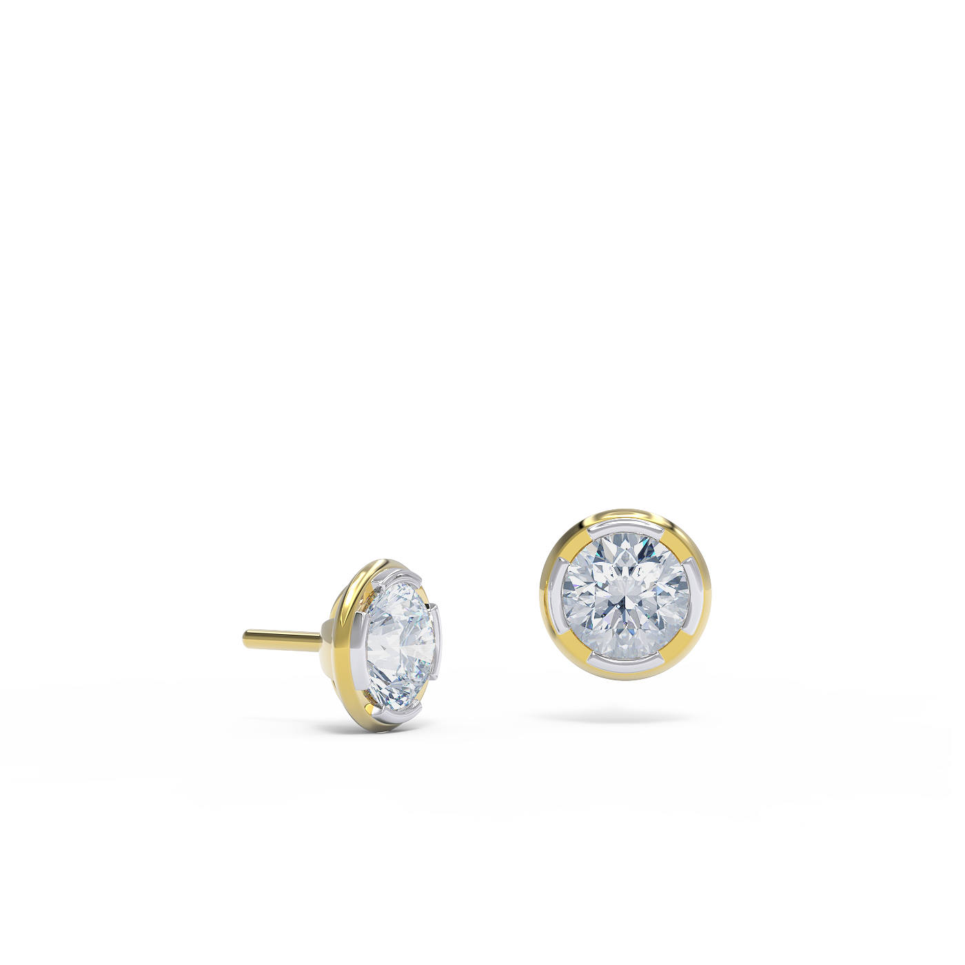 Diamond stud earring 18kt gold Alice Herald