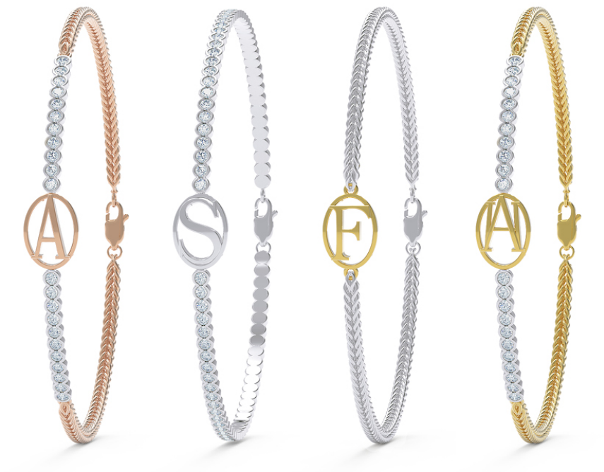 Alice Herald Jeweller Initial Ones Diamond Bracelets