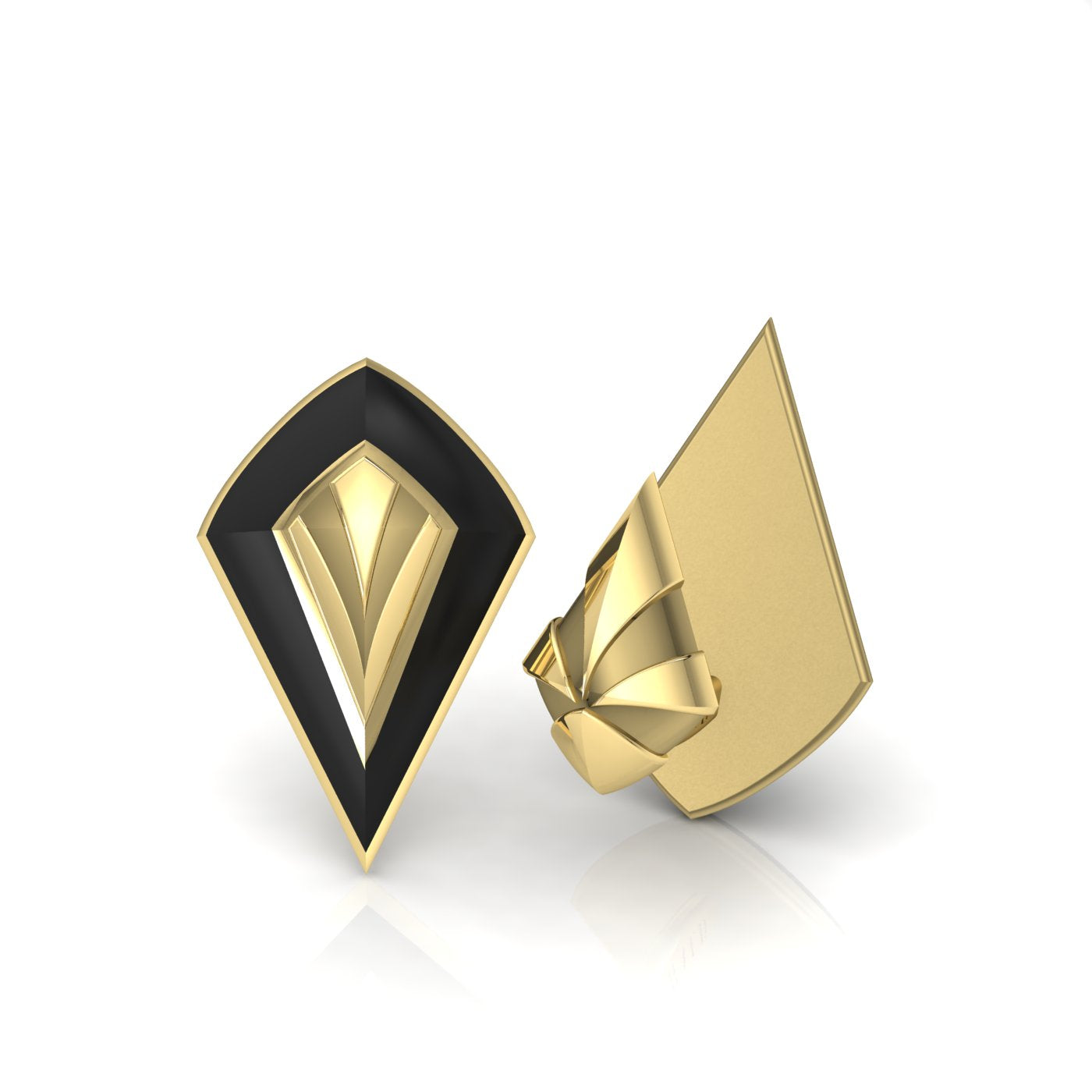 Gold and Enamel Cufflink from Herald Diamond Couture
