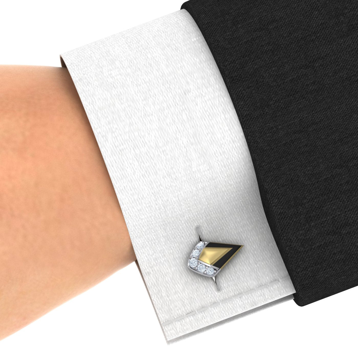 Gold and Diamond Cufflinks by Alice Herald