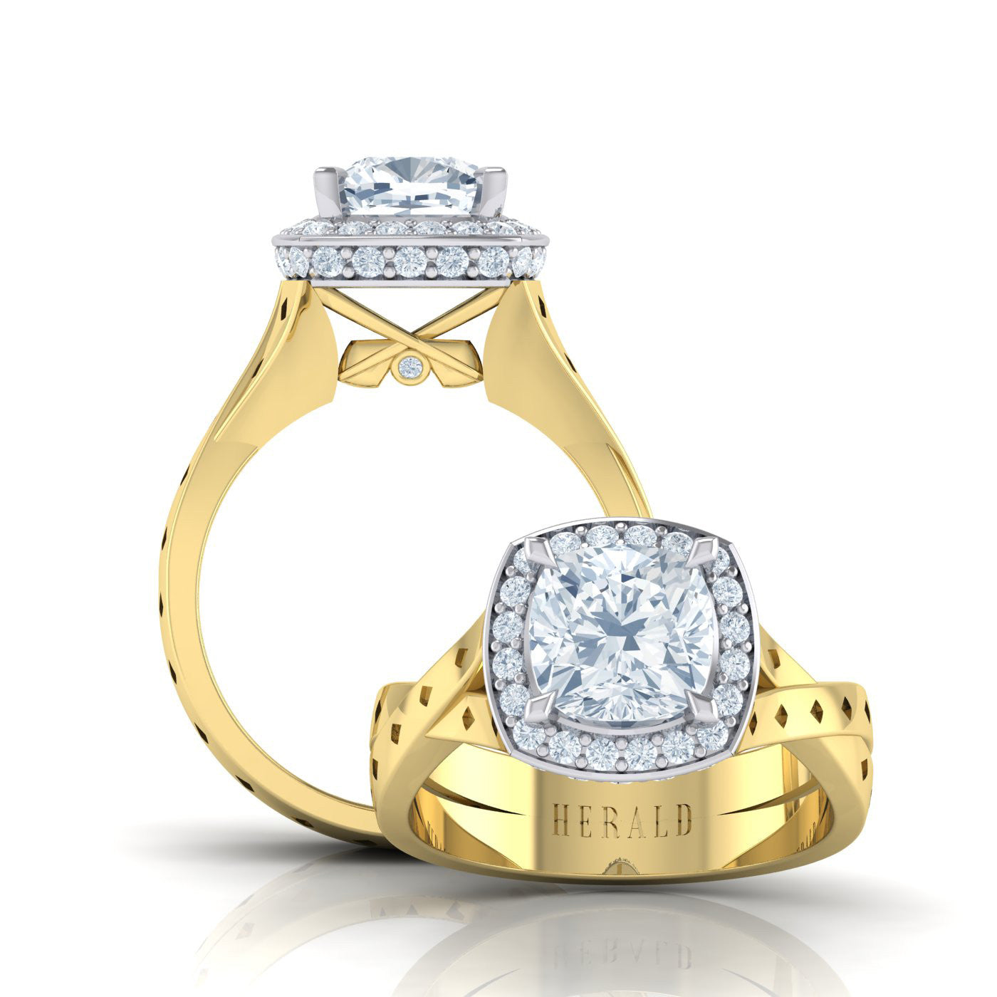 Diamond Engagement Ring in 18kt Gold