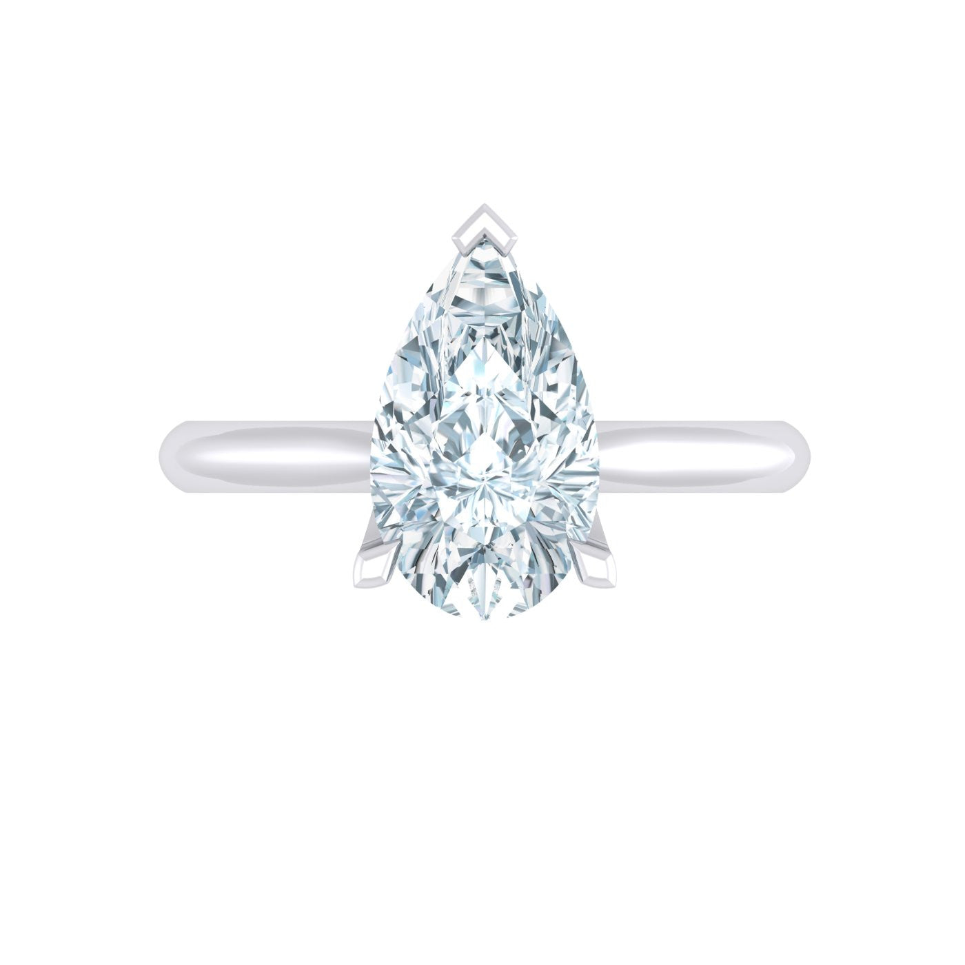 engagement rings diamond tiffany pear co soleste