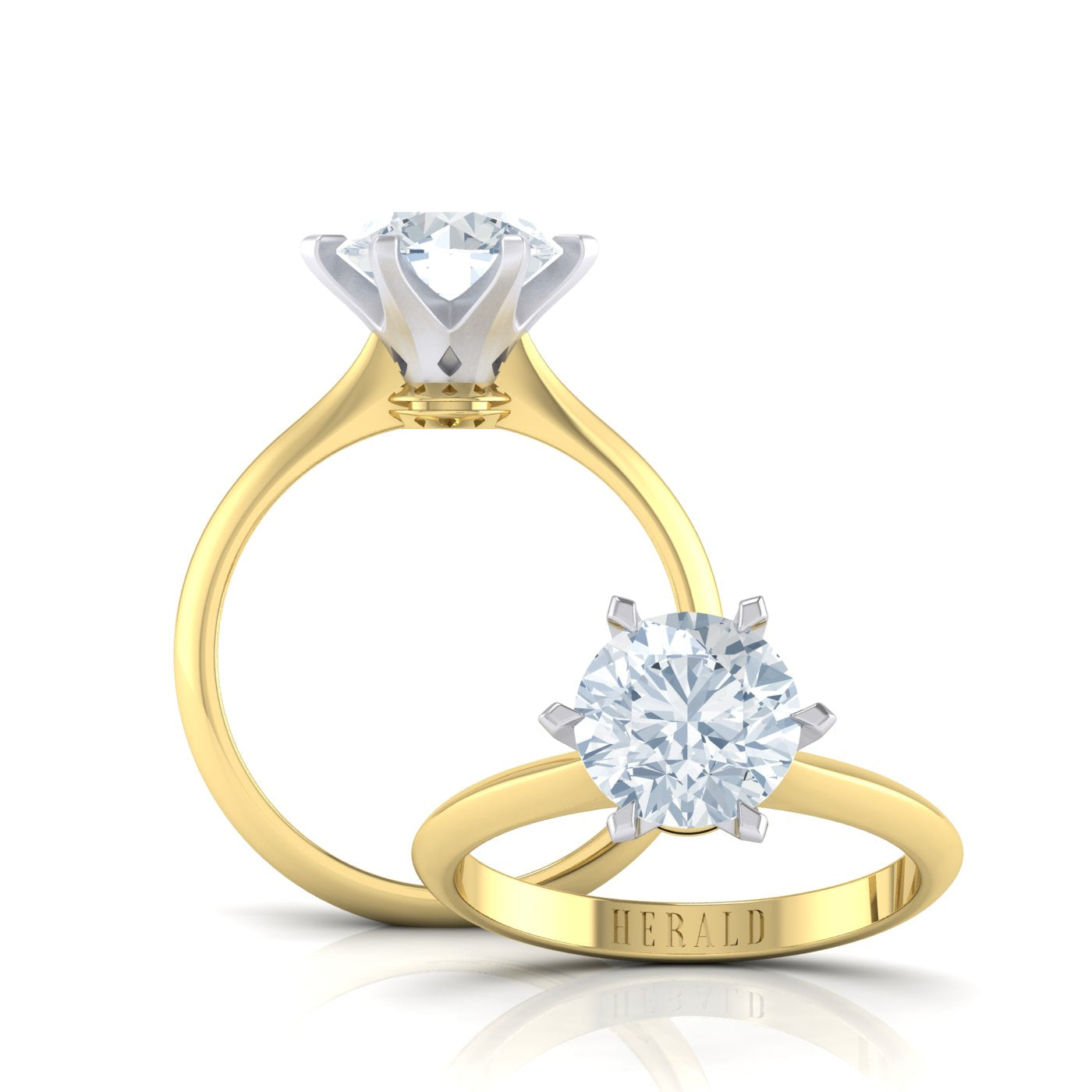 Round Brilliant Diamond Engagement Ring by Alice Herald