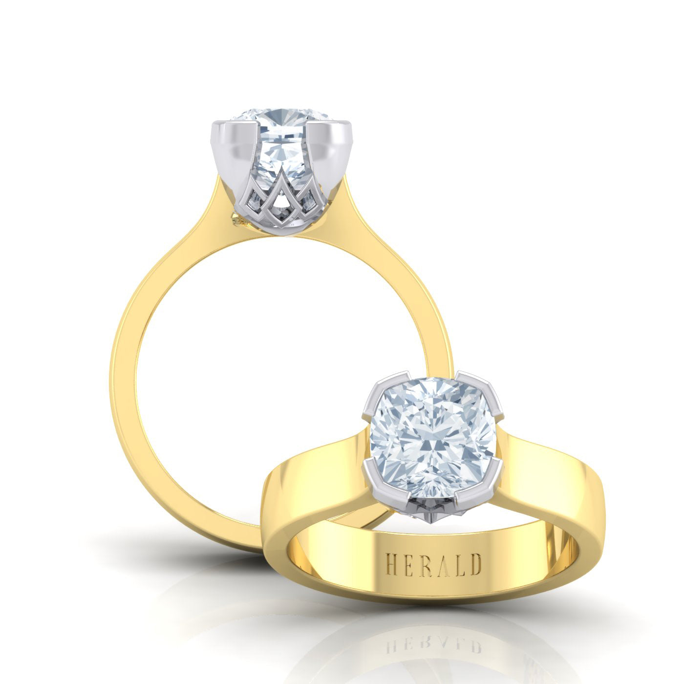 Alice Herald Cushion Solitaire Engagement Ring
