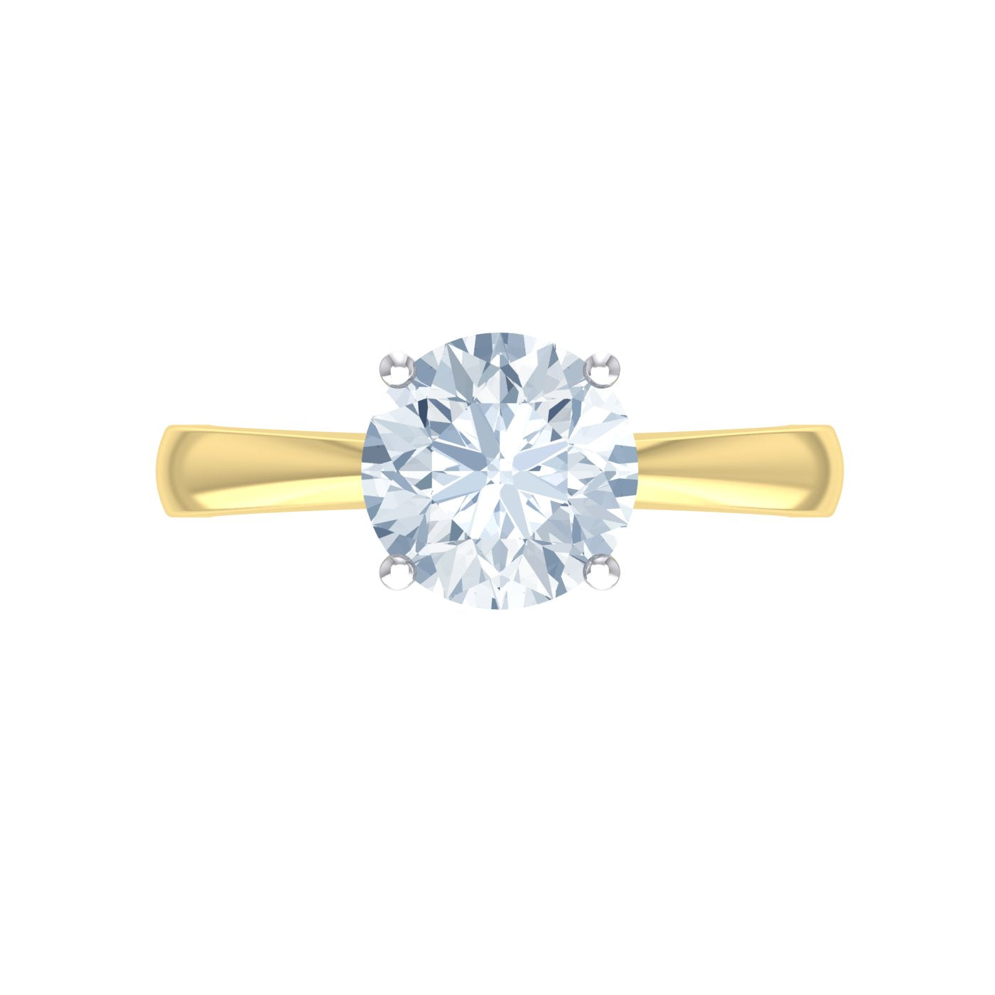 Alice Herald's 4 claw solitaire engagement ring in 18kt gold