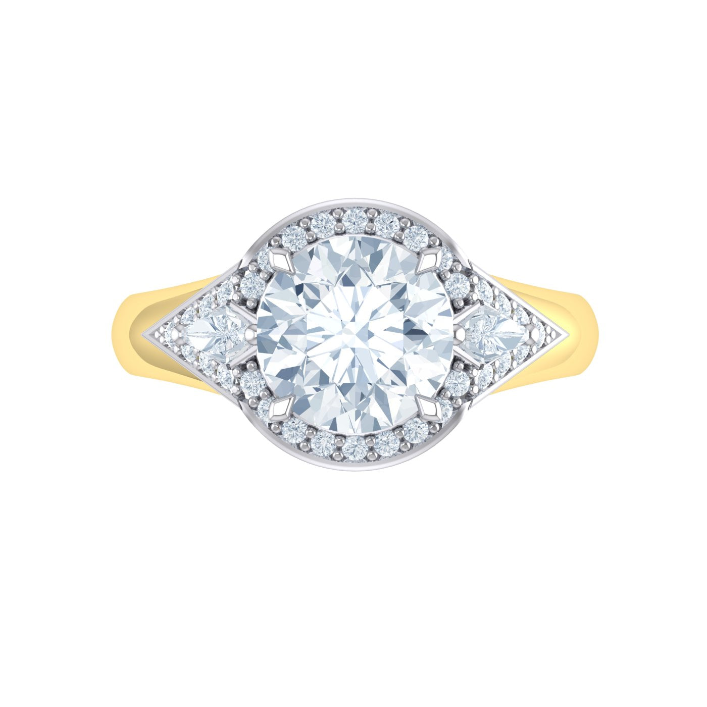 Alice Herald Round Brilliant Halo Diamond Ring