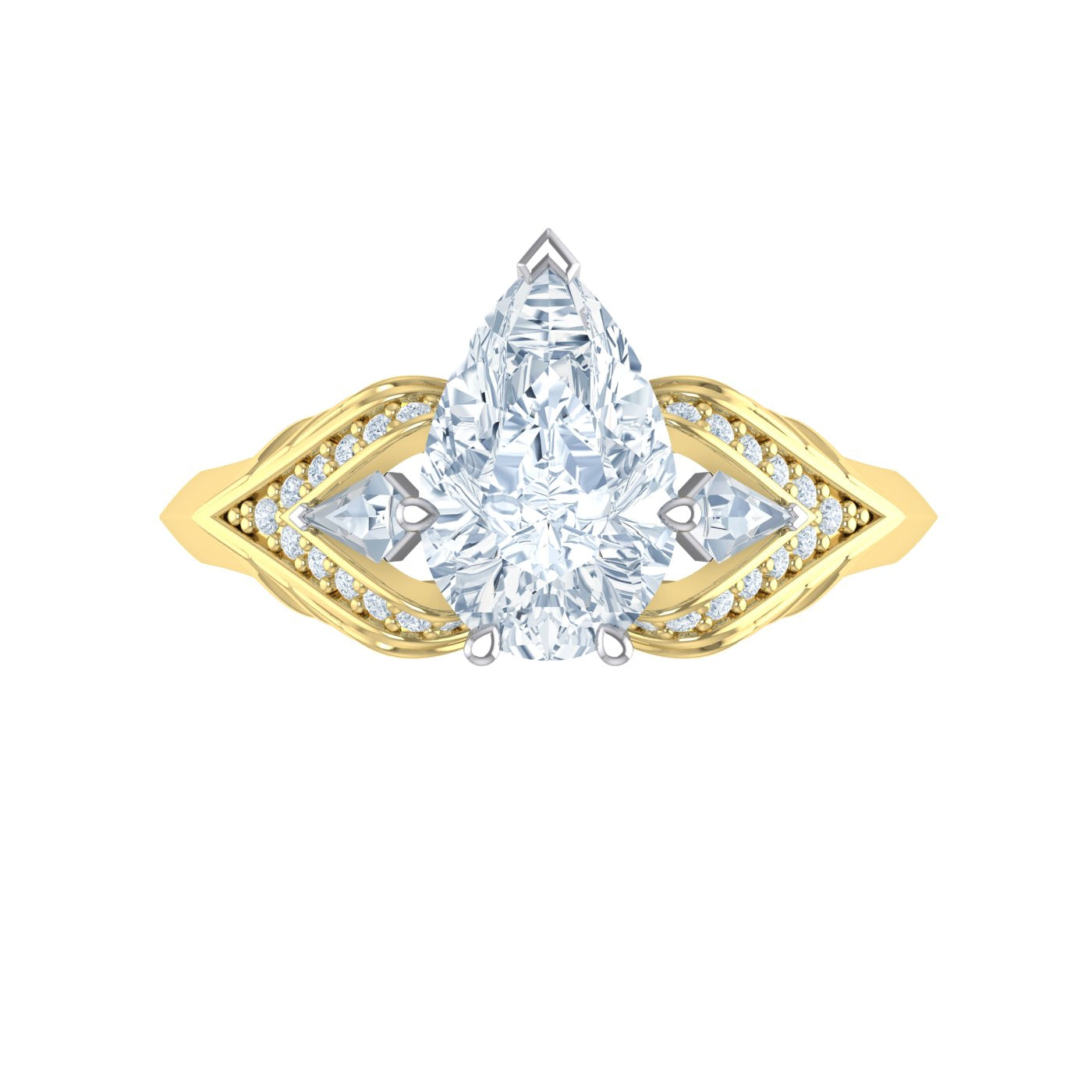 Alice Herald 18kt gold Pear Diamond Ring